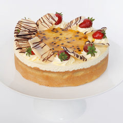 - Baked Decorated Cheesecake