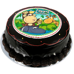 Jungle Party cake - Ganache