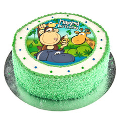 Jungle Party cake - Buttercream