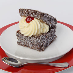 Chocolate Lamington - creamed