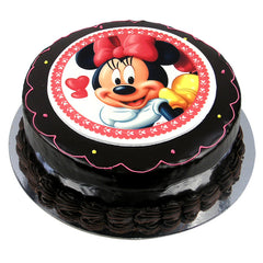 Minnie Mouse cake - Ganache