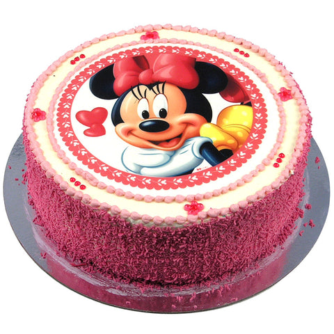 Minnie Mouse Cake Buttercream By Puckles Family