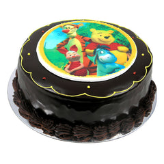 Pooh Bear and Friends cake - Ganache
