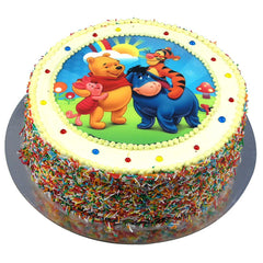 Pooh Bear and Friends cake - Buttercream