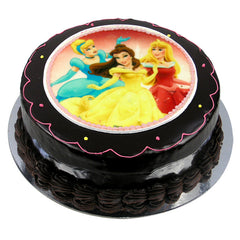 Disney Princesses cake - Ganache