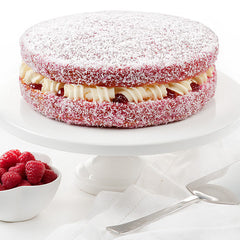 Raspberry Lamington Cream Sponge Cake