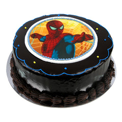 Spiderman cake - Ganache