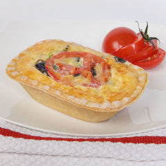 Spinach & Tomato Quiche