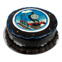 Thomas the Tank Engine cake - Ganache