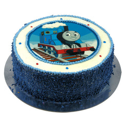 Thomas the Tank Engine cake - Buttercream