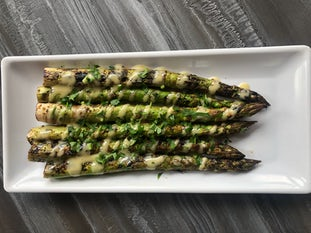 Green Asparagus with Lime Vinaigrette at California Fish Grill