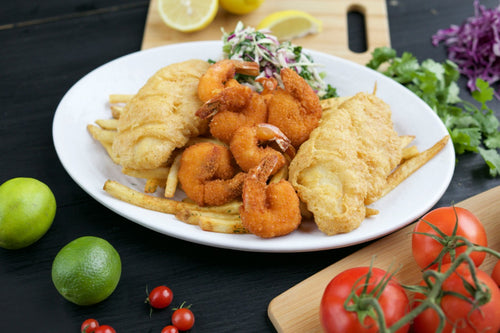 Shrimp & Battered Fish at California Fish Grill