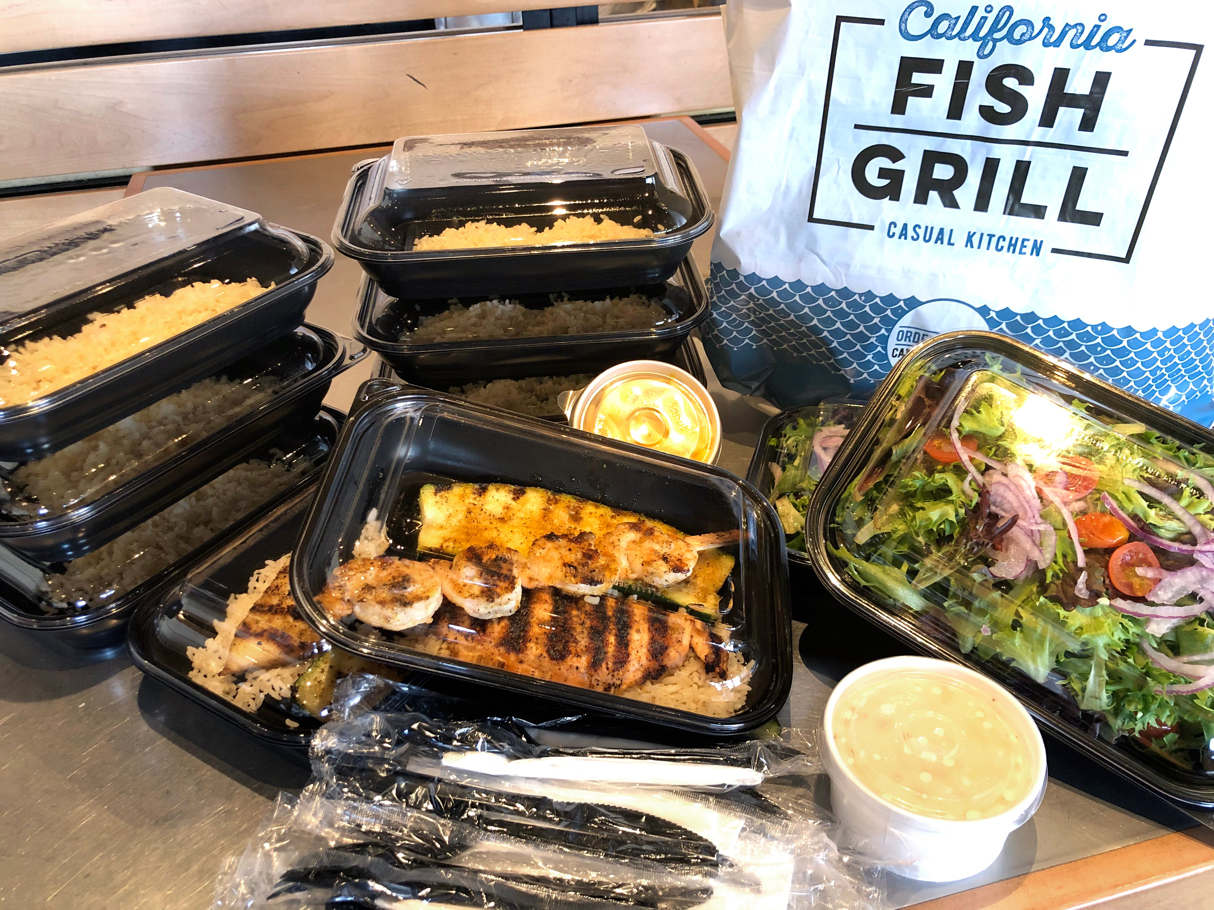 4 Person Family Meal California Fish Grill