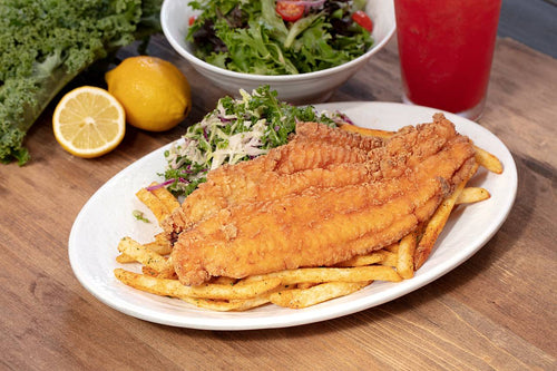 Fried Catfish at California Fish Grill