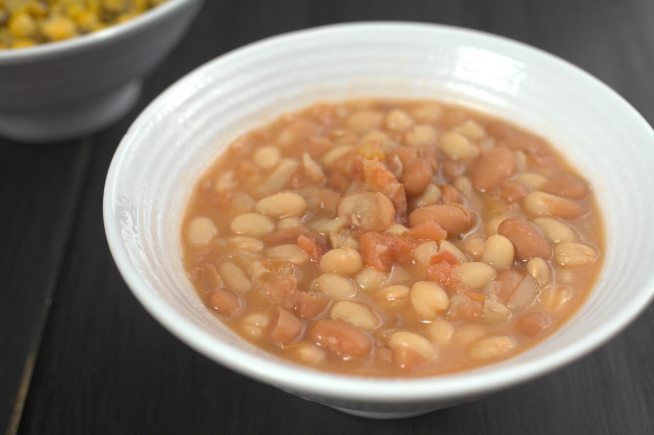 White and Pinto Beans at California Fish Grill