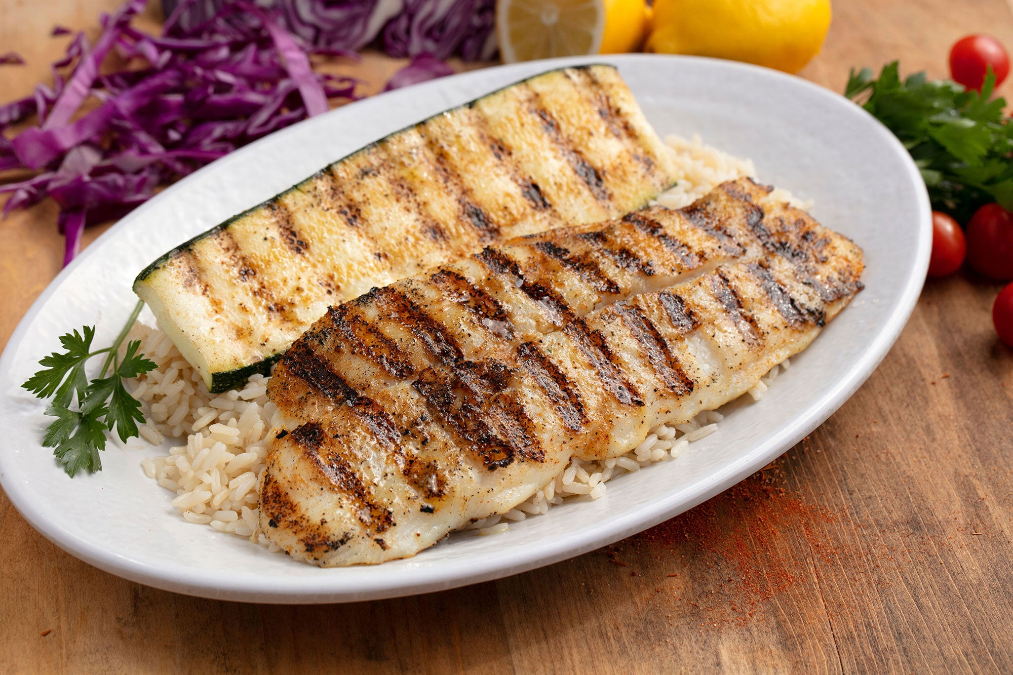 Grilled Tilapia at California Fish Grill