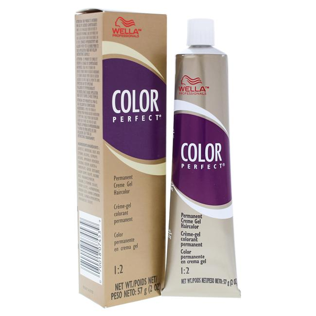 Color Perfect 8RG Light Red Golden Blonde Permanent Creme Gel Haircolor