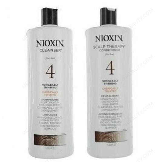 Cleanser & Scalp Therapy System 4 Duo Set shampoo & conditioner