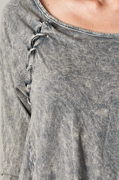 Acid Gray Loose Shirt