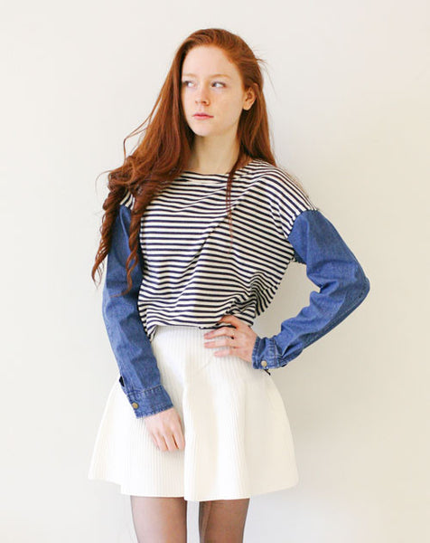 Phillip Stripe Cotton Denim Shirt