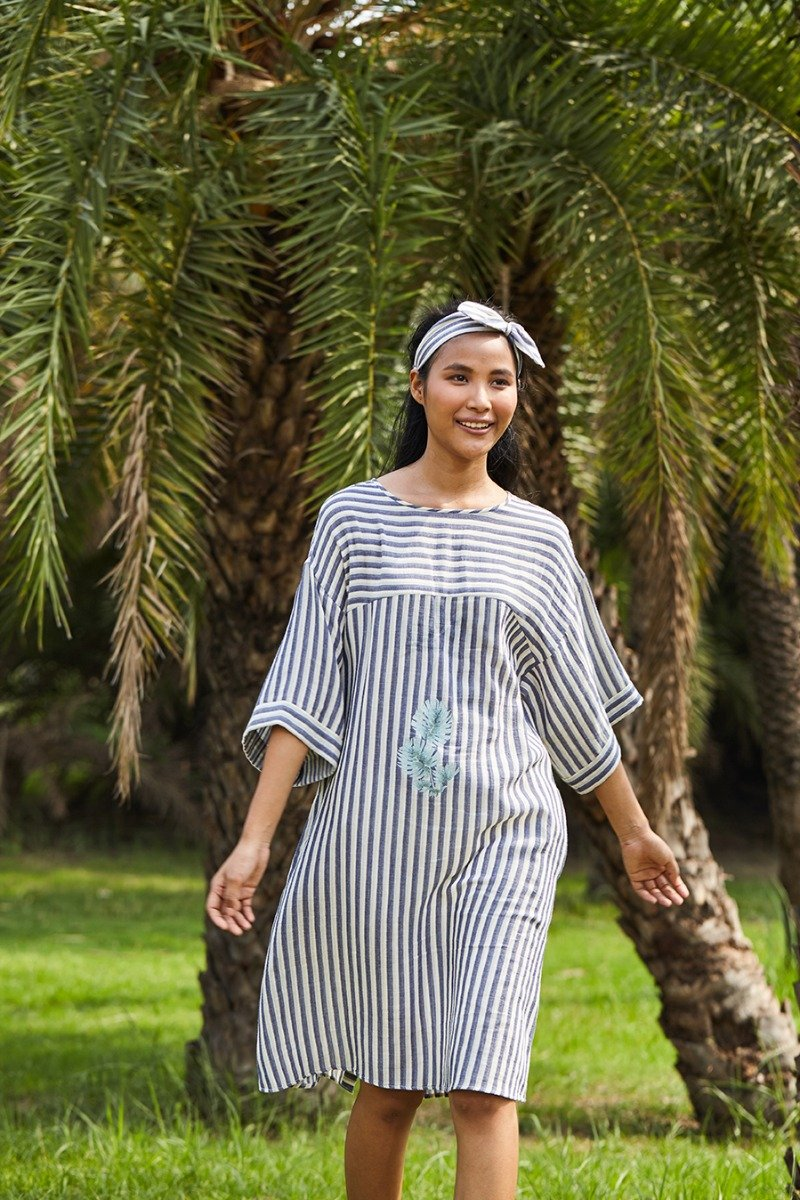 Sunday Stripe organic cotton dress