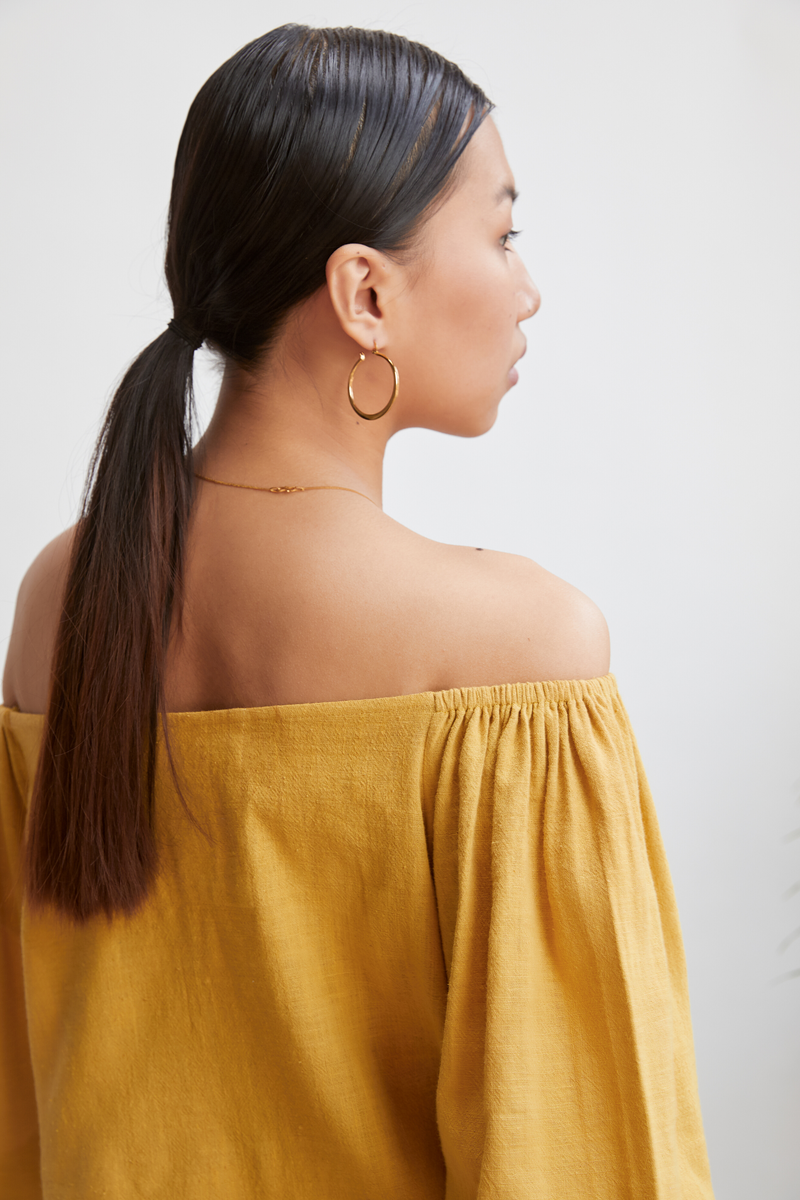 Afternoon Light off-the-shoulder top