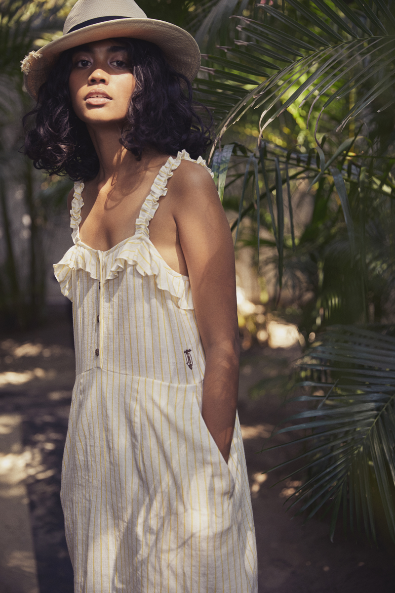 Sui | ANACAPRI embroidered handwoven organic cotton strappy shift dress from Granita Summer Collection 2019