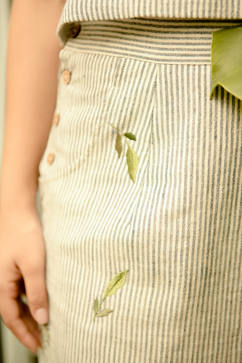 Sui | BE-LEAF ME embroidered organic cotton khadi casual skirt from Basic-ally Sui 2.0 Collection 2019