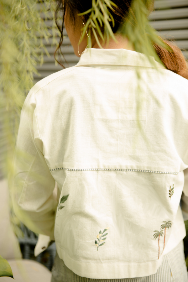 Sui | BE-LEAF embroidered casual recycled fabric jacket from Basic-ally Sui 2.0 Collection 2019