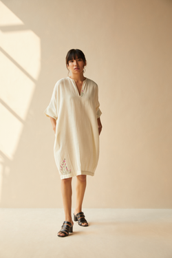 Checkerbloom handwoven organic cotton dress