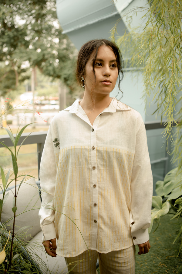 Sui | GREENER WAY embroidered handwoven organic cotton casual button-down shirt from Basic-ally Sui 2.0 Collection 2019