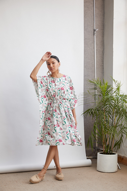 Hibiscusy Summer tencel dress