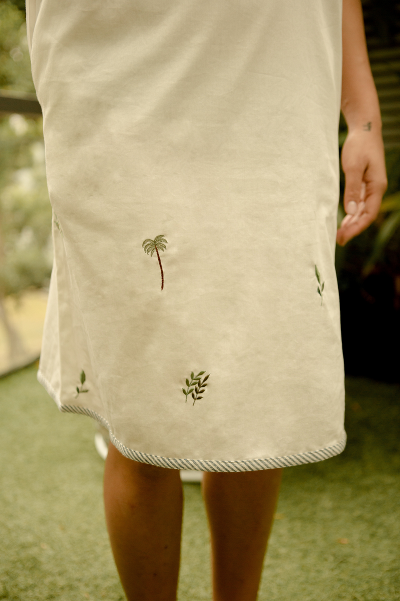Sui | JUST LEAF embroidered handwoven organic cotton dress from Basic-ally Sui 2.0 Collection 2019