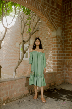 Sui | OCEAN CHILD herbal-dyed organic cotton dress from Flow Winter Collection 2019