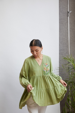 Paradise handwoven organic cotton tunic