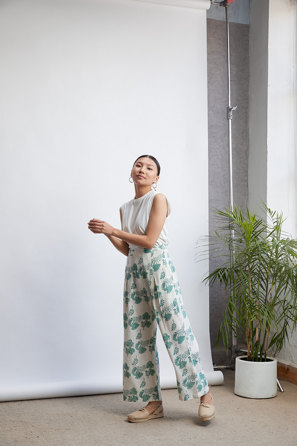 Summer Monstera trousers
