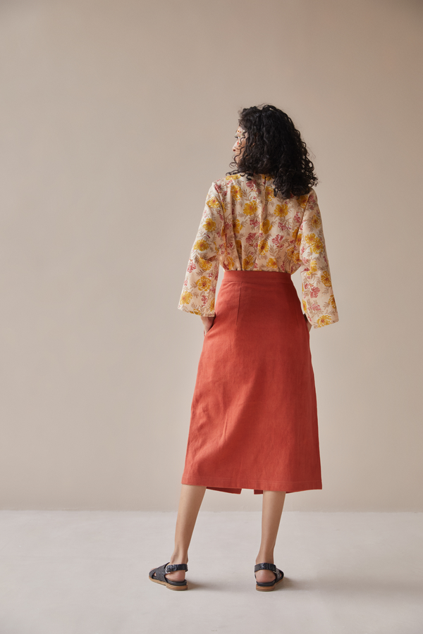 The Bloom handwoven organic cotton skirt