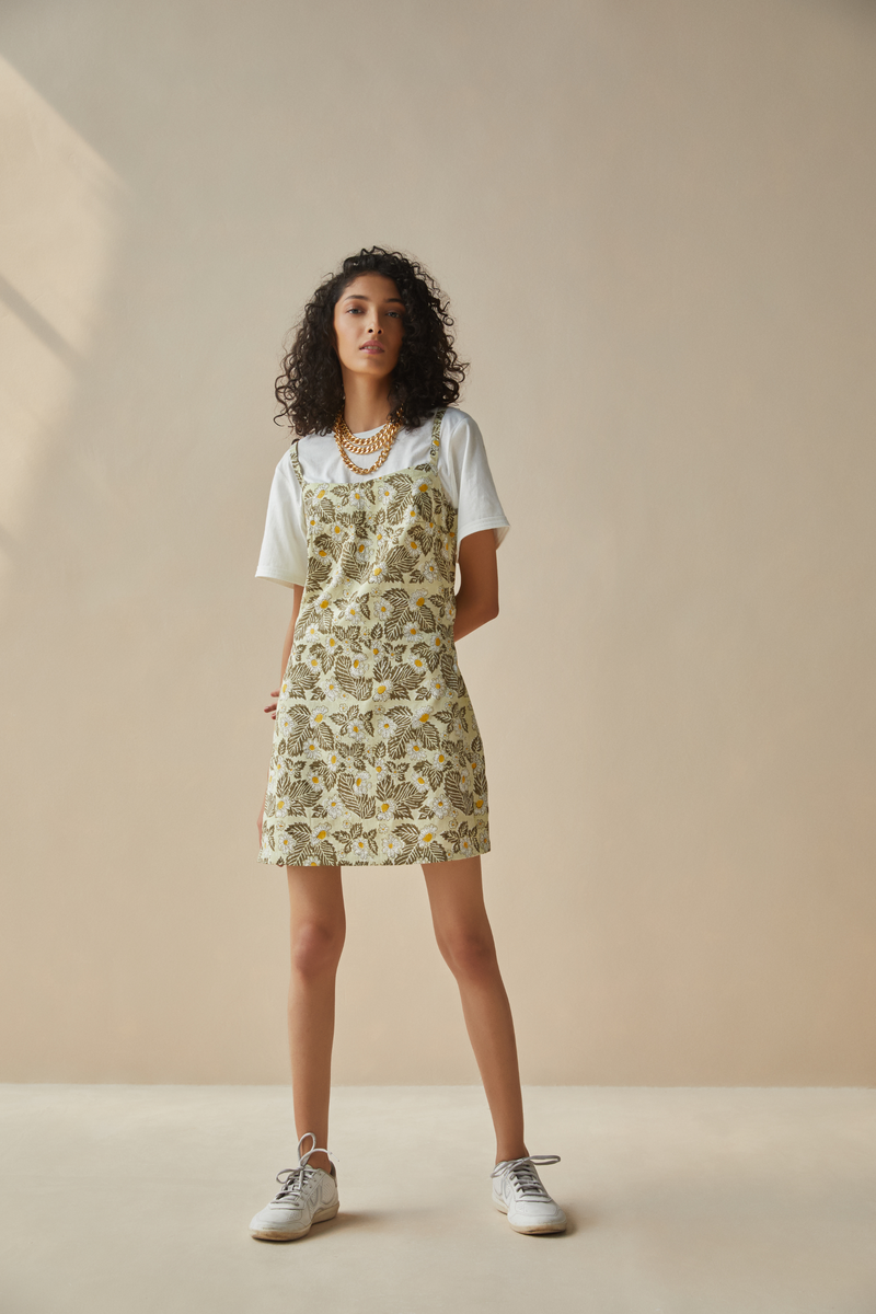 The Earth hemp printed dress