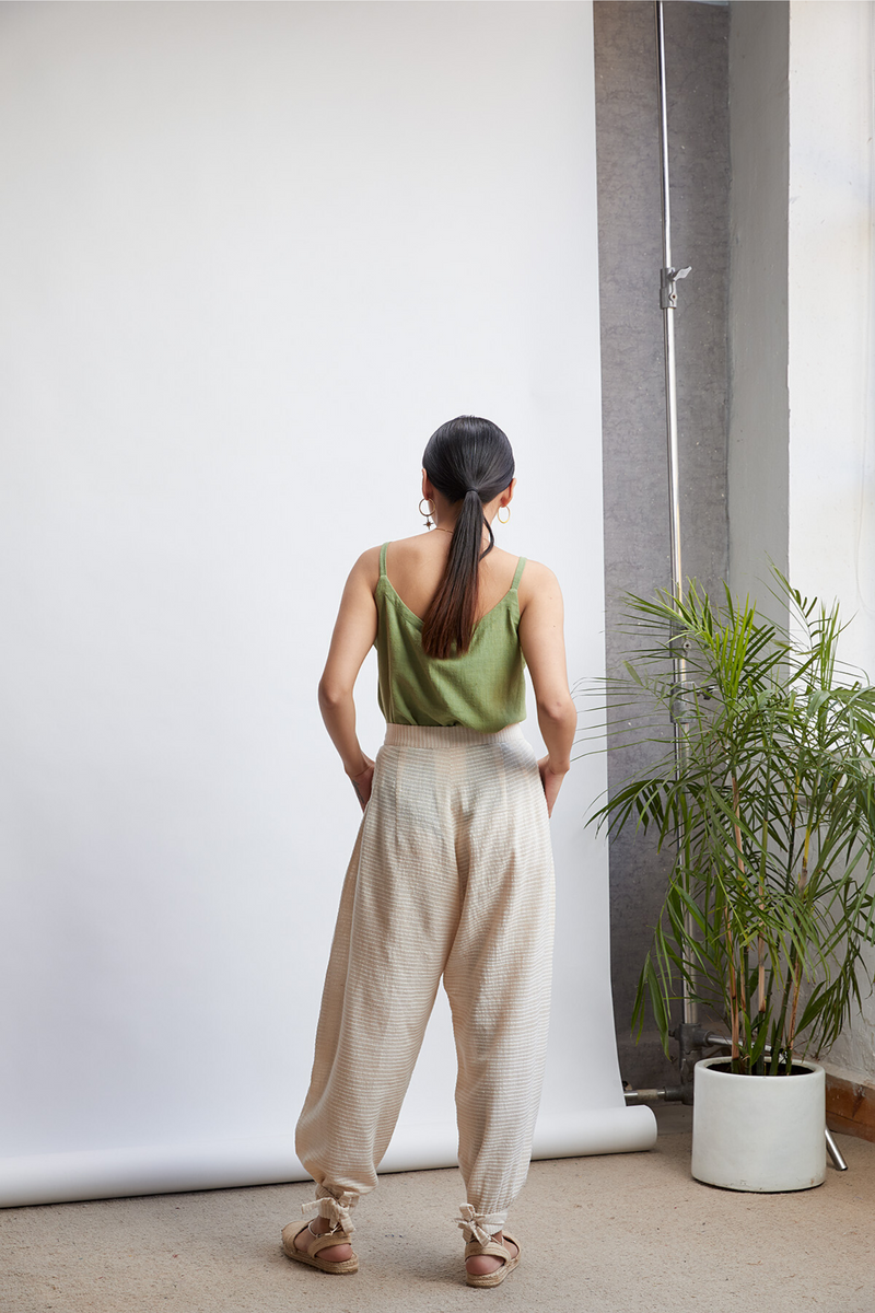 The Weave Easy handwoven organic cotton trousers