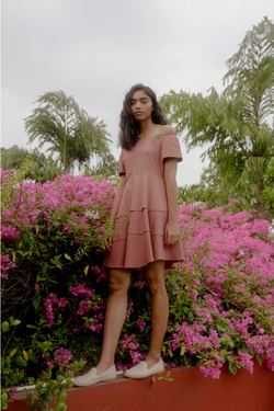 Sui | THE BYRON hand-embroidered recycled fabric dress from Flow Winter Collection 2019