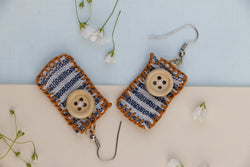 Tropical Weaving earrings
