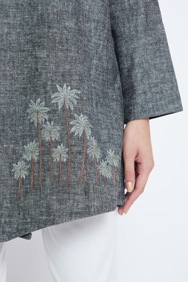 Palm the Day hemp denim jacket