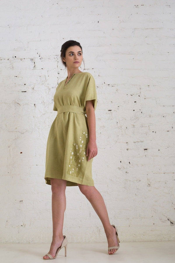Olive Like You Mean It hemp dress