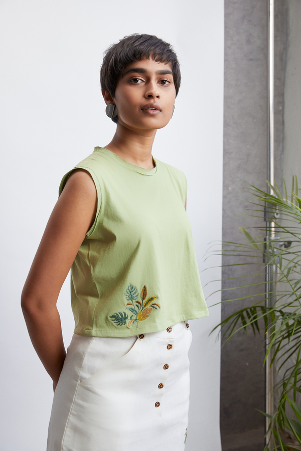 The Palmy organic cotton knit top