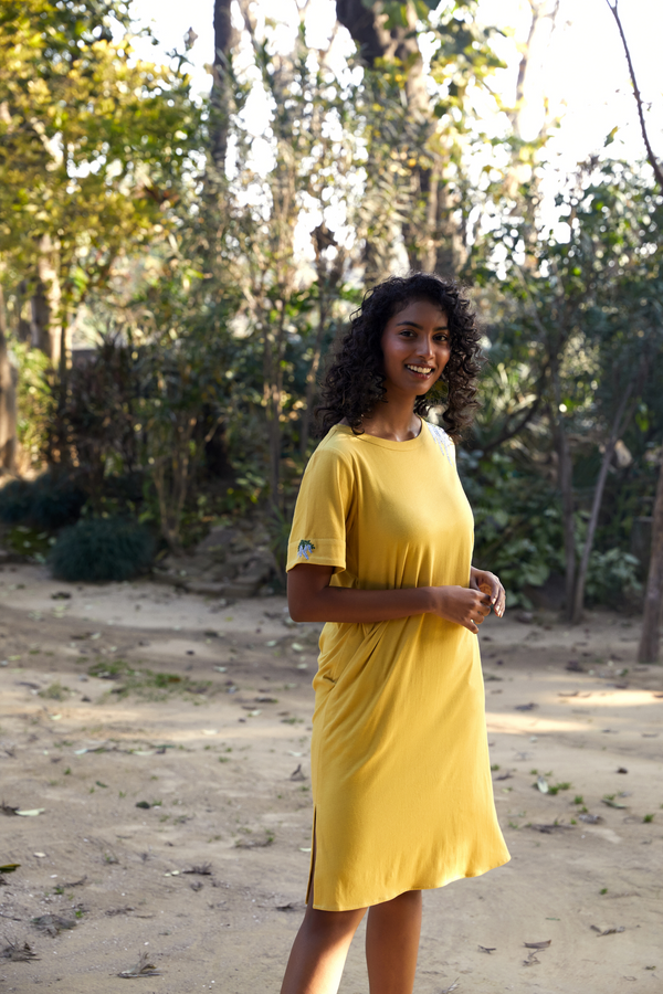 The Tropical organic cotton knit dress