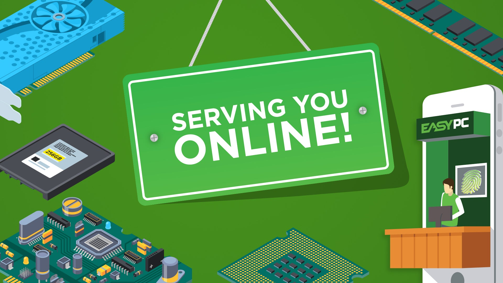 EasyPC is Serving you Online!