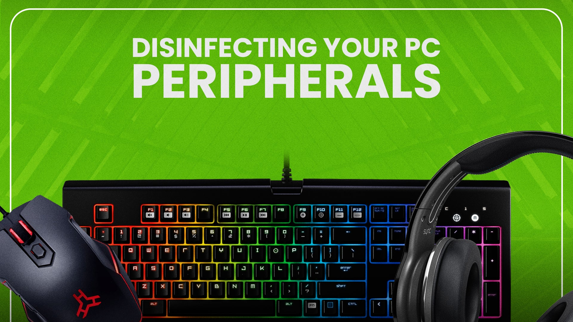 Disinfecting your PC Peripherals