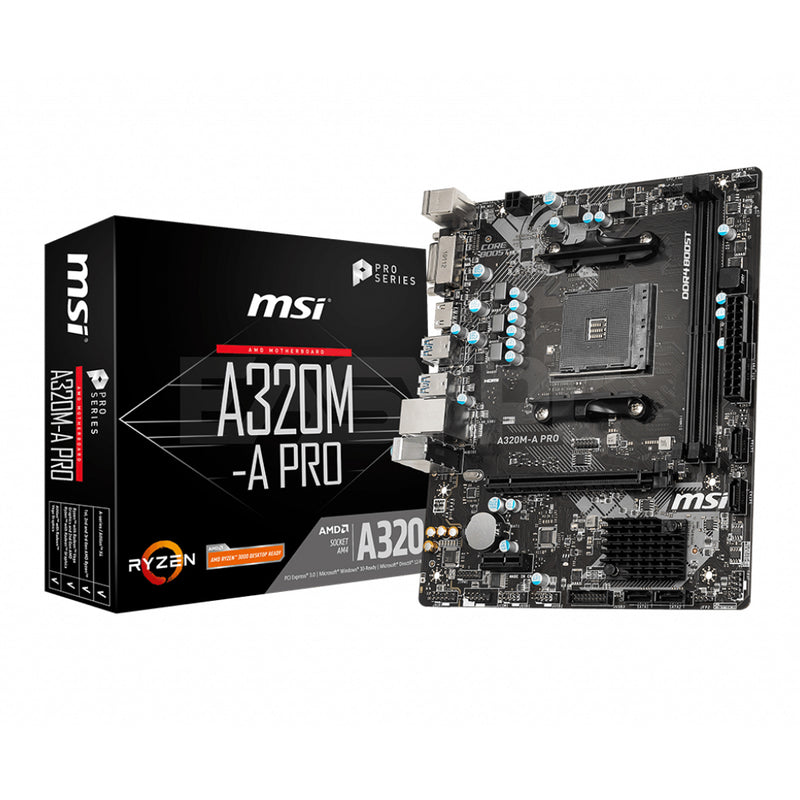 Msi A320M-A Pro Motherboard Socket Am4 Pcie Ddr4
