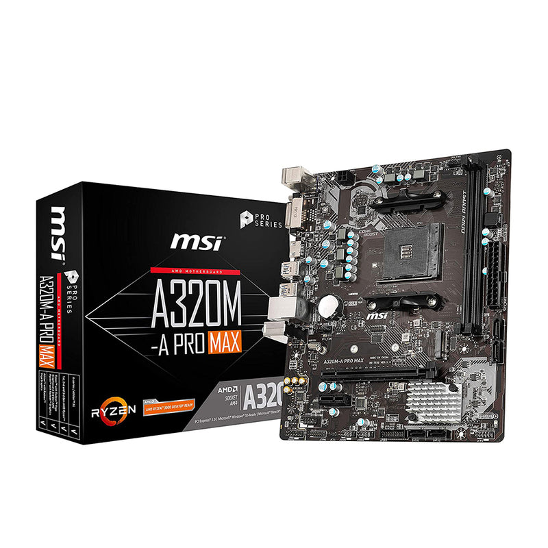 MSI A320M-A Pro Max Socket AM4 Ddr4 M.2 Motherboard
