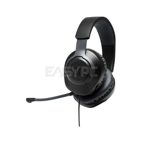 JBL Quantum 100 Wired Gaming Headset Black with Detachable Mic